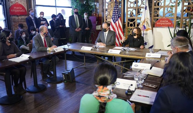 Indian-American businesswoman attends round table with VP Harris