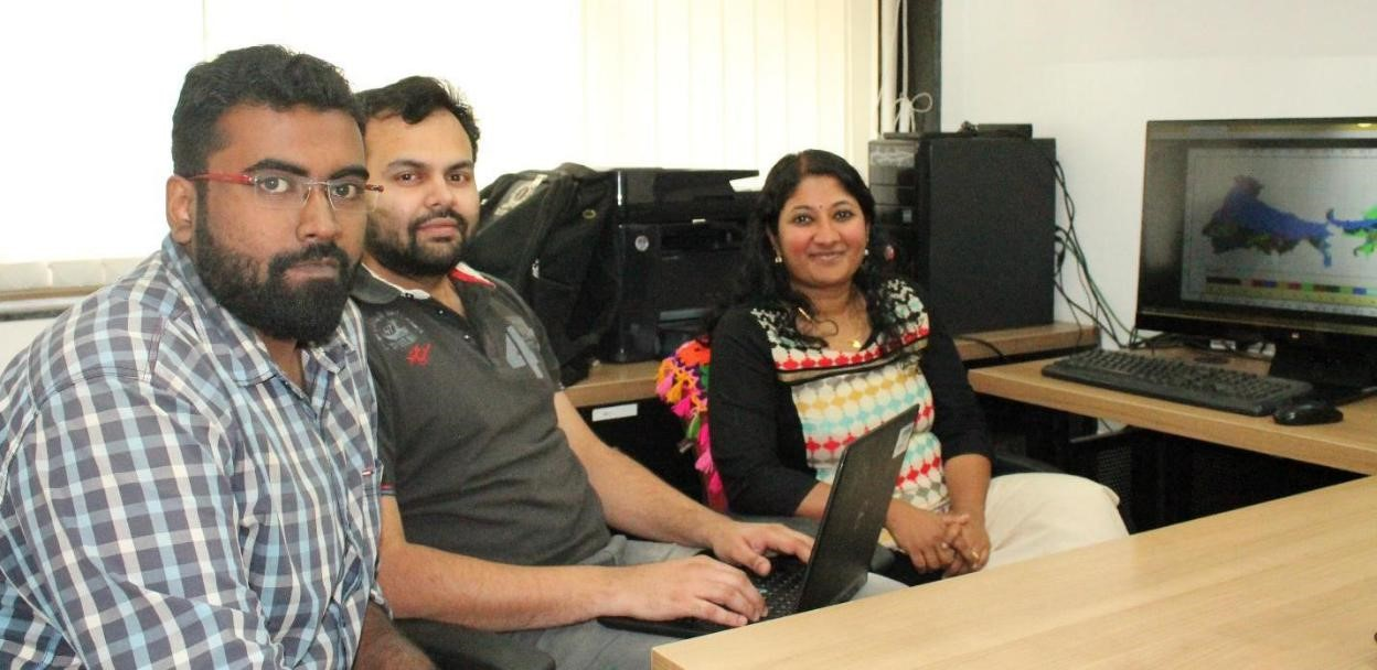[Left to Right] Akhilesh S Nair, IIT Bombay, Dr J Sreekanth, CSIRO Australia, and Prof J Indu, IIT Bombay, who are the researchers involved in this work.